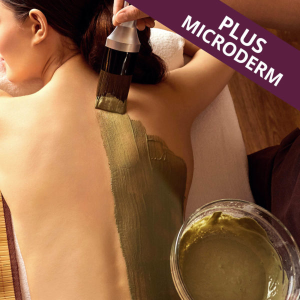 Back facial with microdermabrasion.