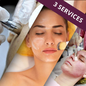 Sample Pack includes a facial. microderm and chemical peel.